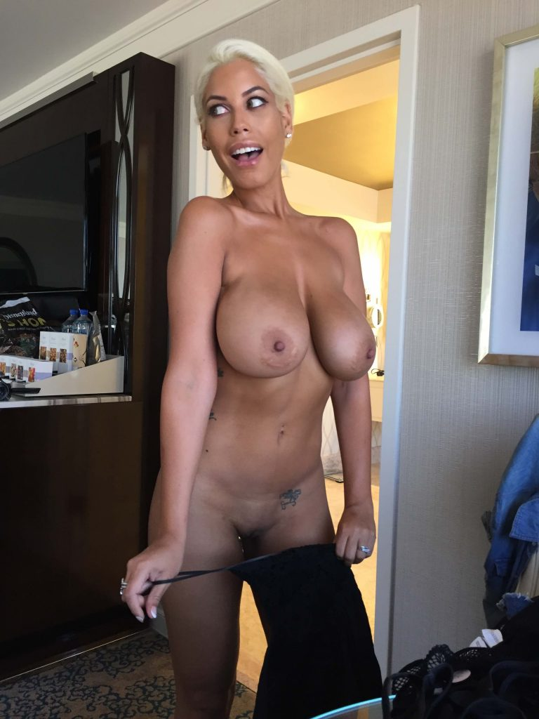 Big Boobs Blonde Latina Porn Star Bridgette B Poses Nude